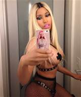 Nicki Minaj – Sexy x Topless (Pasties) In Fishnets Bottoms For ...