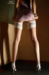 asian pussy, full bush, long legs, sexy ass, white stockings, white ...